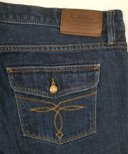LRL Lauren Jeans Co Women's Boyfriend Fit Jeans Flap Pockets Sz 10 36x30 EUC C0