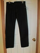 NWT Men's DC SHOES SLIM STRAIGHT BLACK DESIGNER JEANS Size 28W 30L, Black