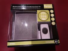 Byron Wireless Wirefree White Portable Door Chime - BY601,200m Range