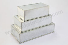 "Rectangle Cake Baking Tins - 3"" Deep - 3 Tier ( 8 10 12 "")"