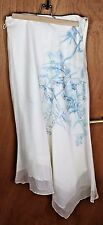 Rachel Mackay Vintage Noughties Asymmetric Hem Layer Design Skirt Off White UK12