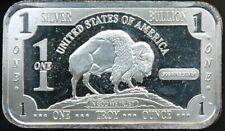 Silver Bullion With Buffalo 1 Troy Ounce .999 Proof-Like Silver Bar