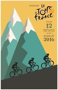Tour de France 2016 METAL TIN SIGN POSTER WALL PLAQUE