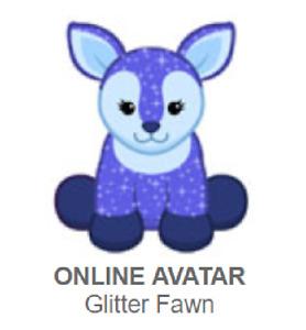 Webkinz Classic Glitter Fawn *Code Only*