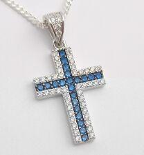 Herren Kreuz Anhänger Collier Echt Silber 925 Kette Erst Kommunion Konfirmation