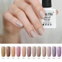 BELLE FILLE 10ml Nude Series Nail Art Gel Polish Soak off UV LED Manicure Salon
