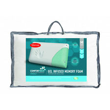 Tontine Comfortech Aircell Gel Infused Memory Foam Medium Pillow RRP $59.95