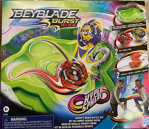 Hasbro Beyblade Burst Rise Hypersphere Infinity Brink Battle Set, Tops, Launcher