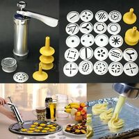 22Pcs 4 Nozzle Biscuit Cookie Maker Extruder Press Machine Cake Making Decorate