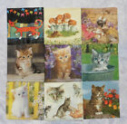 "LOT DE 13 SERVIETTES PAPIER ""CHATS"""