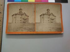 R.L. Kelly Pierre South Dakota Territory Stereoview Photo Building Clock Tower