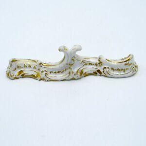 Antique Meissen Gold and White Porcelain Knife Rest, Kniferest
