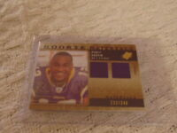 Percy Harvin 2009 SPX Rookie Materials DUAL Patch Card #RM-PH SP#D 233 VIKINGS