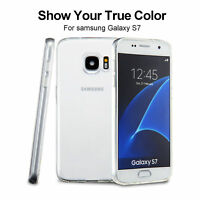 Silicone Gel Clear Back Slim Thin Soft Case Cover For Samsung Galaxy S7