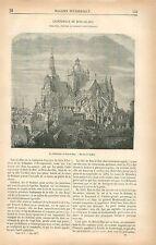 Cathédrale-basilique Saint-Jean l'Évangéliste de Bois-le-Duc GRAVURE PRINT 1877