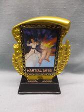 hologram martial arts trophy award gold resin