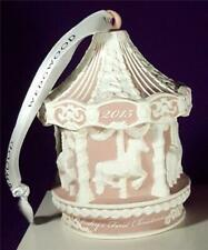 Wedgwood 2015 Pink Baby'S First 1st Christmas Carousel Ornament New In Box