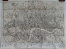 Antique maps, Black's plan of London, c. 1883
