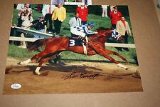 SECRETARIAT 11X14 PHOTO SIGNED BY RON TURCOTTE PREAKNESS POSE JSA