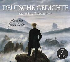 CD Allemande Poèmes artistique récité lus de Jürgen Goslar 7CDs