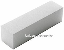 White Nail Sanding Buffer Blocks Manicure 100/100 GRIT- The Edge!