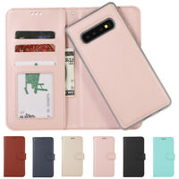 Removable Magnetic Leather Flip Wallet Case Cover for Samsung Galaxy S10+ S10E