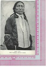 Postcard Iron Tail, Famous Indian Chief, Of Nickel Fame?