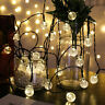 21ft Outdoor String Lights Patio Party Yard Garden Wedding 30 Solar Powered LED