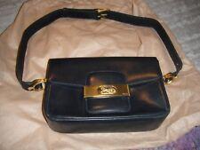 Vintage Celine Horse Carriage Handbag - Dark Navy Blue