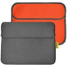 AMZER 10.6 inch Reversible Horizontal Sleeve w/ Pocket - Slate Grey/Burnt Orange