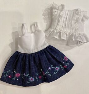 """Boneka 24cm 2 Piece Embroidered skirt Lace Top  10"""" Monday Tuesday Child dolls"""