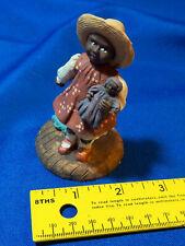 Youngs Inc Figure Girl Doll Hat Dog Black Americana Vtg Statue Monroe, Michigan