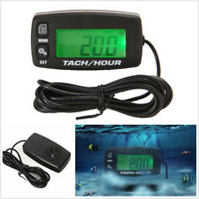 Motorcycle ATV Backlit Digital Resettable Inductive Tacho Hour Meter Tachometer