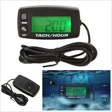 Motorcycle ATV Backlit Digital Resettable Inductive Tacho Hour Meter Tachometer