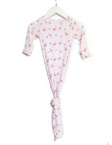 Keep Me Cosy® Knotted Baby Gown, One-piece Bamboo Babywear - Flamingo