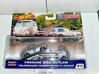 2019 Hot Wheels Team Transport Porsche 356A Outlaw & VW T1 Transporter Pickup