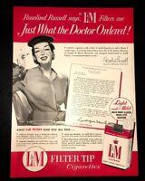 Life Magazine Ad L&M Filter Tip Cigarettes 1954 Ad