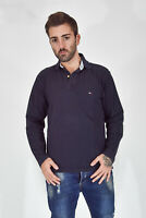TOMMY HILFGER Polo Shirt Maglia Blu In Cotone Cotton TG S Uomo Man