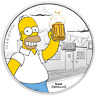 2019 The Simpsons: Homer 1 oz Silver Coloured Proof Perth Mint Presentation Case