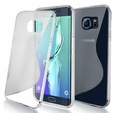 Samsung Galaxy S7 Plus Clear S Line Soft TPU Silicone Gel [Wave Design] Case