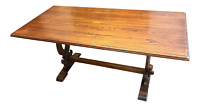 Antique 19th Century Victorian Trestle Dining Table - Shipping Available
