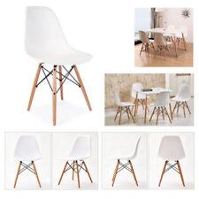 4 Stück Esszimmerstuhl Wohnzimmer Stuhl Kunststoff Büro Stühle Weiß Schwarz Grau