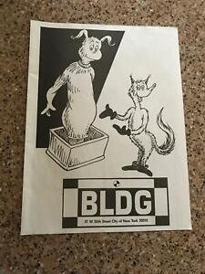 1992 VINTAGE 8X10 PRINT Ad FOR HIP HOP/RAP CLUB BUILDING NYC CLUB SCENE DR SEUSS