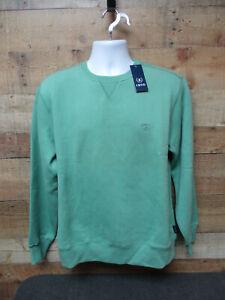 IZOD Saltwater Fleece Sweatshirt Size S Green Seaside