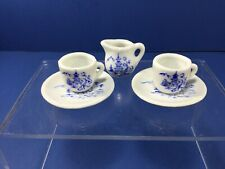 Vintage, Porcelain Miniature 2-Cups, Saucers and Pitcher, Made in Japan