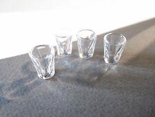 2 DOLLS HOUSE MINIATURE WATER / JUICE GLASSES