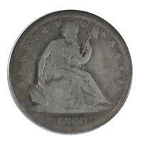 1860-S Liberty Seated Half Dollar Very Good