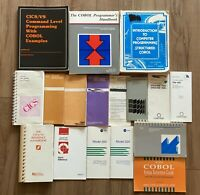 Lot Of 17 Vintage Computer Book IBM, CICS/VS, Compuware, COBOL, Programming PC