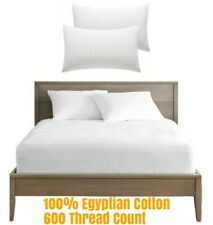 100% Egyptian Cotton Hotel Quality Fitted Sheet 30Cm Deep Box 600 Thread Count