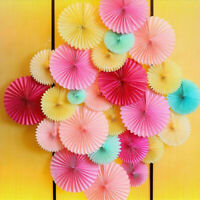 2/3/4Pcs Paper Fan Flowers Wedding Baby Birthday Party Tissue Paper Table Decor
